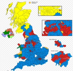 Results of the 2015 general election in the UK