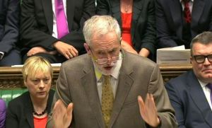 Corbyn speaking at Prime Minister's Questions
