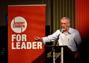 Corbyn standing for Labour leader at Open, Norwich