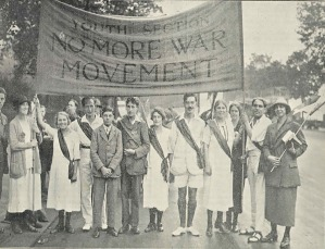 Members of the youth section of the No More War Movement